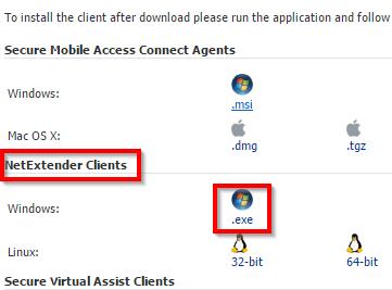 How To Install SonicWALL NetExtender – Shanahan's Help Center